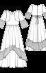 Сукня з оборками плісе і максі-спідницею - фото 3