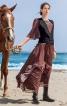 Сукня з оборками плісе і максі-спідницею - фото 1