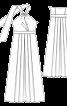 Сукня максі приталена із зав'язкою петлею - фото 3