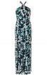 Сукня максі приталена із зав'язкою петлею - фото 2