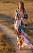 Сукня максі з рукавами крильцями і клином годе - фото 1