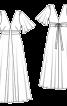 Сукня максі з рукавами крильцями і клином годе - фото 3