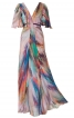 Сукня максі з рукавами крильцями і клином годе - фото 2