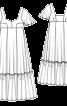 Сукня максі силуету ампір з рукавами-крильцями - фото 3