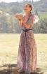 Сукня максі в стилі 70-х з воланами на ліфі - фото 1