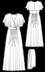 Сукня максі в стилі 70-х з воланами на ліфі - фото 3
