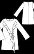 Сукня коротка з воланами на переді - фото 3