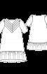 Сукня А-силуету зі складками на кокетках - фото 3