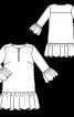 Сукня прямого крою з пишними оборками - фото 3