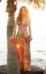 Сукня силуету ампір з контрастними бретелями - фото 1