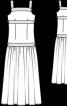 Сукня на бретелях і з заниженою талією  - фото 3