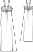 Сукня силуету ампір з контрастними бретелями - фото 3