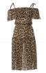 Сукня на бретелях з вирізом кармен - фото 2