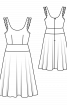 Сукня на бретелях з глибоким декольте - фото 3