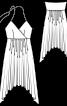 Сукня з асиметричною спідницею - фото 3