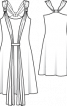 Сукня на бретелях із довгим шарфом - фото 3