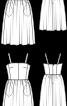 Сукня-корсаж на бретелях - фото 3