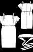 Сукня приталеного крою з поясом обі - фото 3