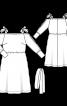 Сукня на бретелях і з розрізами на рукавах - фото 3
