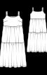 Сукня максі трикотажна на широких бретелях - фото 3