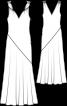 Сукня максі на перекручених бретелях - фото 3