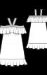 Сукня на бретелях і з широкими воланами - фото 3