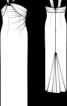 Сукня-корсаж довга зі шлейфом - фото 3