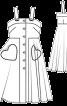 Сукня на бретелях і з пишною спідницею - фото 3