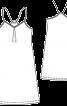 Сукня розкльошеного силуету на бретелях - фото 3