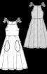 Сукня джинсова на бретелях - фото 3
