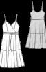 Сукня трикотажна на тонких бретелях - фото 3