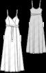 Сукня максі трикотажна на вузьких бретелях - фото 3