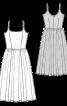 Сукня коктейльна з призбореною спідницею - фото 3