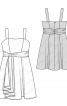 Сукня-бюстьє коктейльна з пишною спідницею - фото 3
