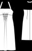 Сукня на бретелях з високою талією - фото 3