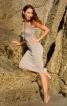 Сукня з рельєфними швами і драпіровками - фото 1