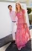 Сукня довга з вирізом кармен - фото 1