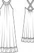 Довга сукня з американською проймою - фото 3