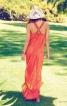 Довга сукня з американською проймою - фото 4