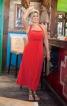 Сукня на бретелях з високою талією - фото 1