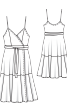 Сукня із запахом і на перекручених бретелях - фото 3
