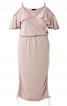 Сукня трикотажна з відкритими плечима - фото 2