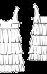 Сукня міні на бретелях і з оборками - фото 3