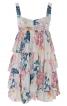Сукня міні на бретелях і з оборками - фото 2