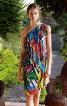 Сукня на одне плече з максі-воланами - фото 1