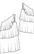 Сукня на одне плече з максі-воланами - фото 3