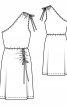 Платье трикотажное с асимметричным вырезом - фото 3