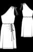 Платье трикотажное с асимметричными кулисками - фото 3