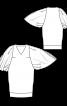 Сукня О-силуету з оригінальними рукавами - фото 3