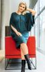 Сукня О-силуету з оригінальними рукавами - фото 1